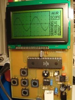 (Video) Osciloscópio digital casero con AVR y escrito en C