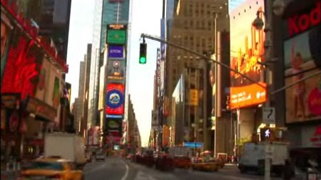 (Video) Las pantallas gigantes de LED de Times Square