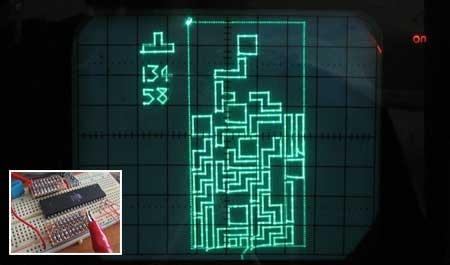 (Video) Scopetris: Juego Tetris con osciloscópio y ATMega32