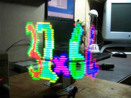 (Video) 32×64 RGB LED POV