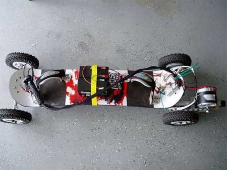 (Video) Skate electrico casero