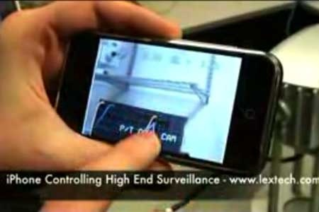 (Video) iPhone controlando una camara de seguridad