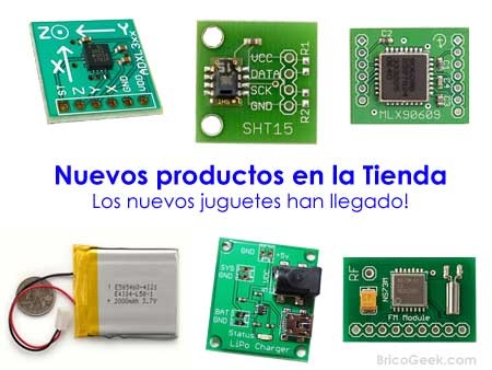 Tienda: Acelerómetros, Giroscopios, relojes RTC y mucho más!