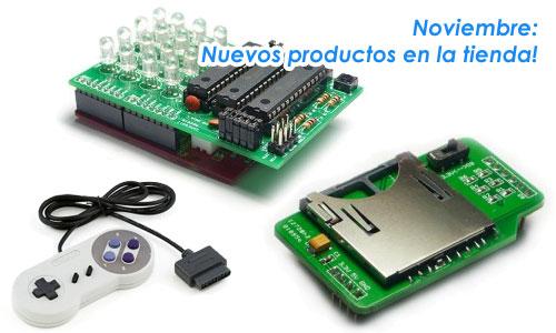 Tienda: Super NES, Matriz RGB y Arduino Shield