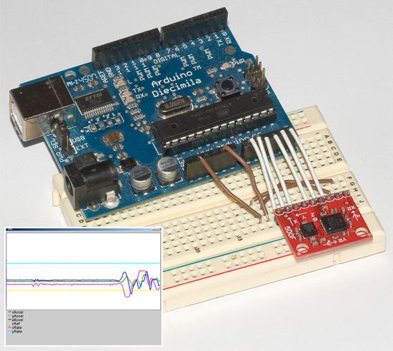 Sistema de medición inercial con Arduino y Processing