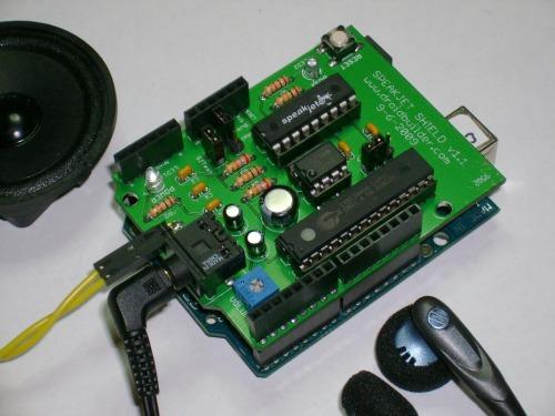 SpeakJet Shield.: Sintetizador de voz para Arduino
