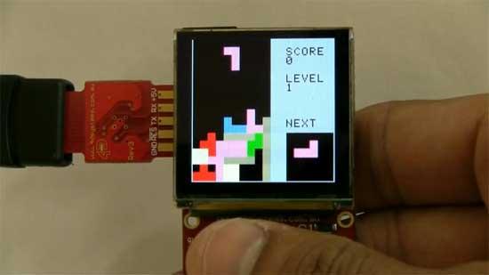 TETRIS con pantalla OLED de 4D Systems