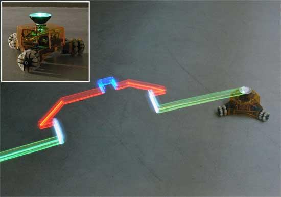 Robot programable que dibuja con luz