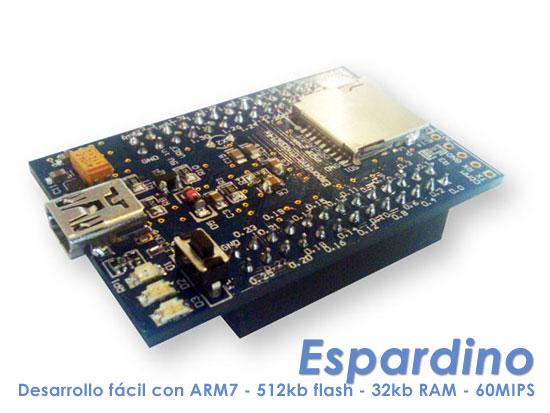 Espardino: Plataforma de desarrollo fácil con ARM7