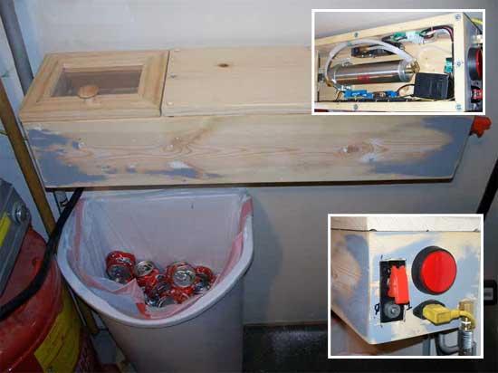 Cannihilator: Aplastador de latas neumático casero