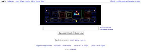 juega al PacMan con Google