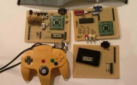 Consola de juegos casera con ARM 32 bits