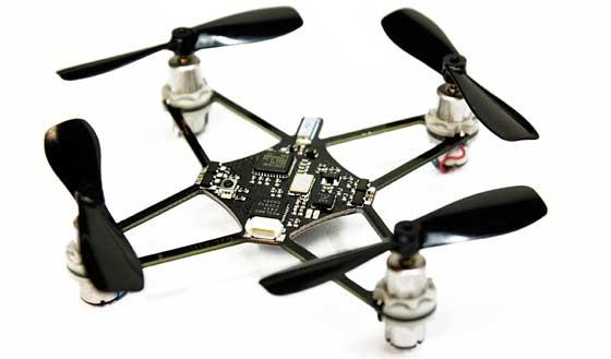 NanoCopter: Mini quadcopter de 15 gramos