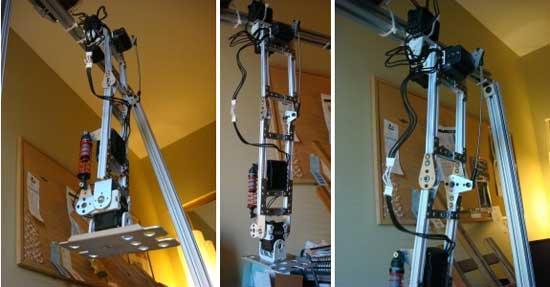 Pierna robótica casera con servos