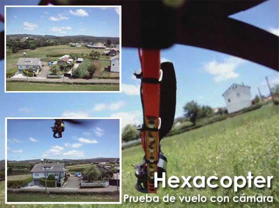 Hexacopter: Areal video