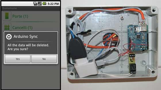 Control domótico con Arduino y Android