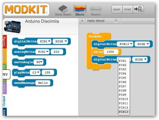 ModKit: Entorno de programación gráfica para arduino!