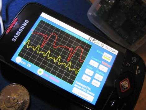 Osciloscopio casero basado en un móvil con Android