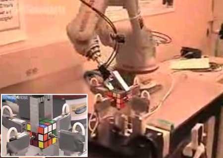 (Video) Brazo robot que resuelve un cubo de rubik