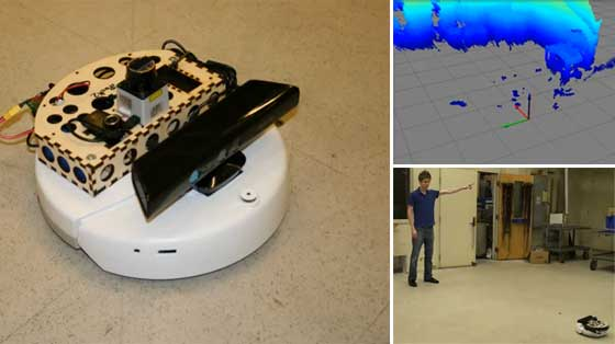 Robot Roomba con SLAM y Kinect