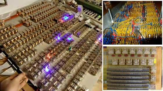 Ordenador electromecánico hecho con 1500 relés