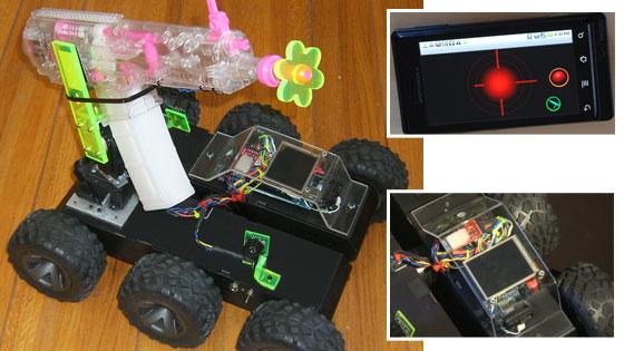 Robot casero con Arduino y Android que espanta mapaches vía SMS