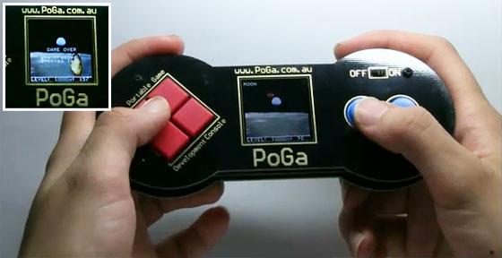 PoGa: Consola portátil LCD de 4D Systems
