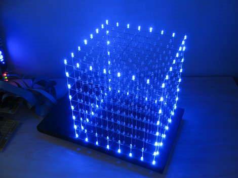 Cubo 8x8x8 con 512 diodos LED