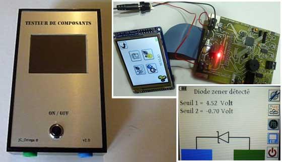 Comprobador de componentes digital casero