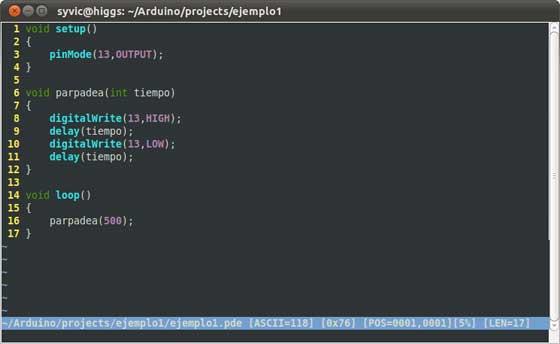 Cómo programar Arduino con VIM (Linux)