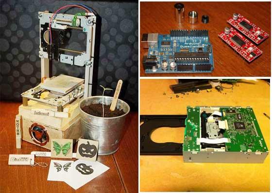 Grabadora láser casera con Arduino