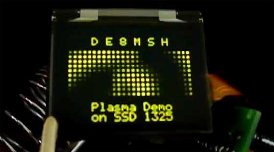 Demoscene embedida: Efecto Plasma con SSD1325