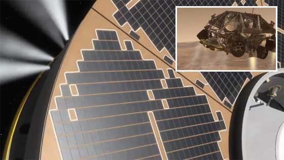 Aterrizaje simulado del Curiosity en Marte