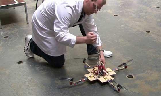 Pruebas con un quadcopter casero