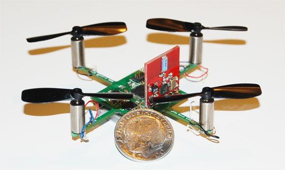 CrazyFlie: Mini quadcopter de 20 gramos