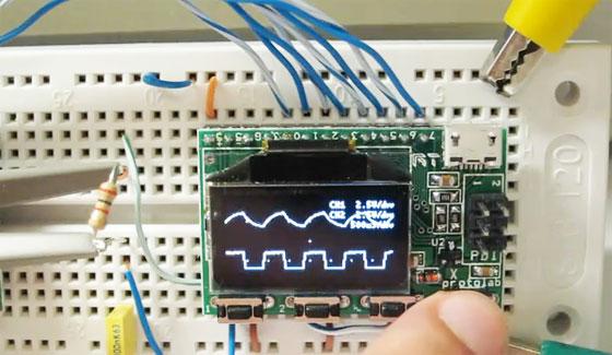 Xprotolab: Osciloscópio miniatura con pantalla OLED