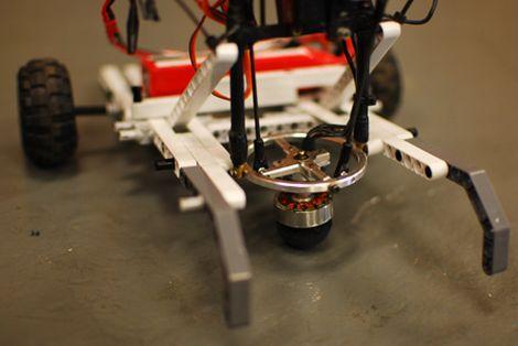 Robot con control de dirección hemisférico