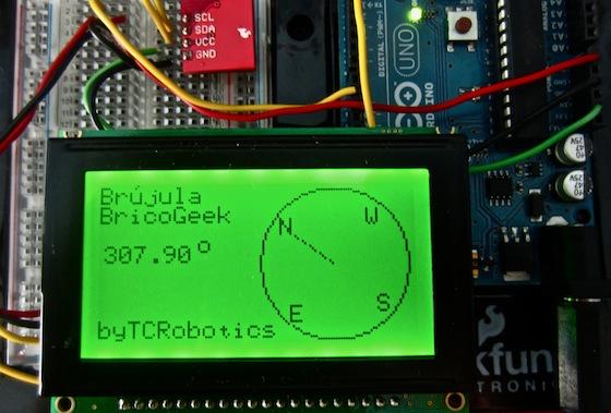 Tutorial Arduino: Brújula digital con HMC6352