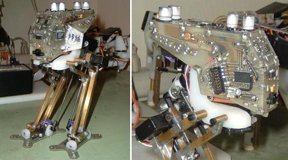 Minimechadon robot bípedo que aprende bricogeek