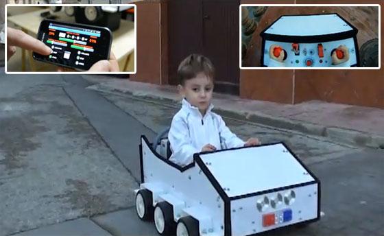 Coche eléctrico para niños controlado con Arduino y Android
