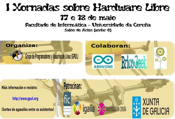 I Jornadas sobre Hardware Libre en A Coruña