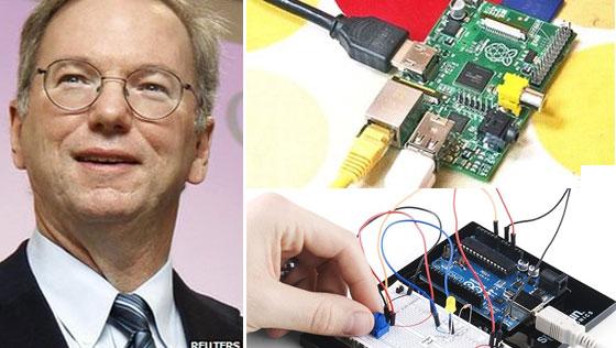 Google patrocinará escuelas con Rasberry Pi y Arduino