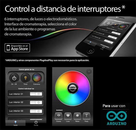 Cromalight: Una App para controlar interruptores a distancia