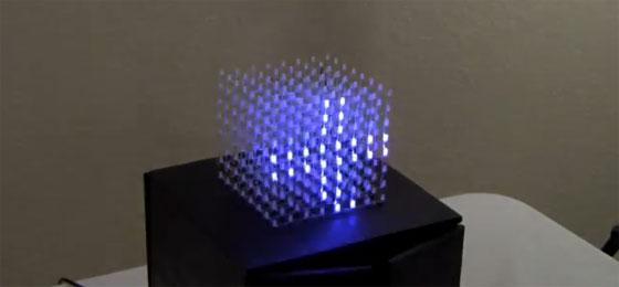 Cubo de LED 8x8x8 casero con Arduino