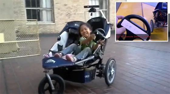 Carrito de bebé motorizado con Kinect