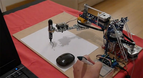 Brazo robot dibujante con Arduino
