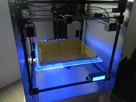 Impresora 3d casera con makerbeam for Impresora 3d laser