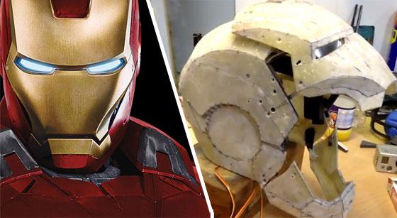 Casco casero de Ironman