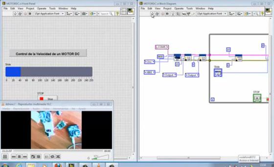 Control inalámbrico de motor con Arduino y LabVIEW