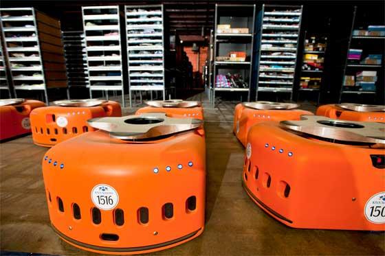 Kiva Systems y sus robots en almacenes